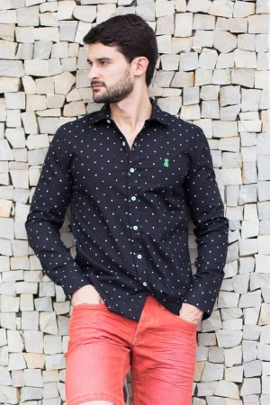 Camisa Estampada Masculina Preta | Camisas | The Best Divinópolis