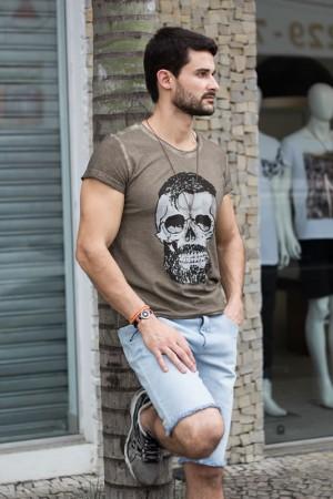 Camiseta masculina Caveira Barbada | Camisetas | Divinópolis MG