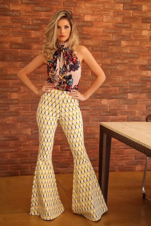 f7957482b0 Blusa feminina Gola Alta - Coleção Verão 2016   2017 - Moda Festa - Comprar  roupas